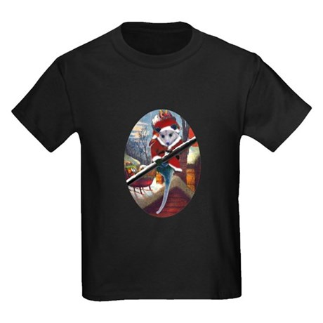 Possum Santa on Rooftop Kids Dark T-Shirt