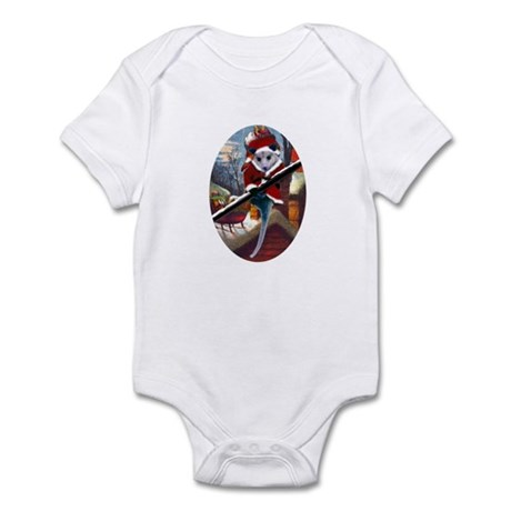Possum Santa on Rooftop Infant Bodysuit
