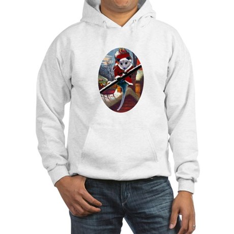 Possum Santa on Rooftop Hooded Sweatshirt