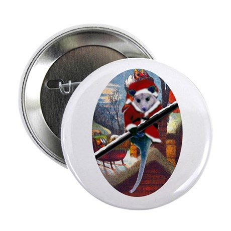 "Possum Santa on Rooftop 2.25"" Button"