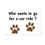 Paw Prints Dog Car Ride Mini Poster Print