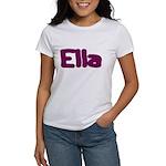 Ella Fat Burgundy Women's T-Shirt