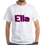 Ella Fat Burgundy White T-Shirt