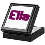 Ella Fat Burgundy Keepsake Box