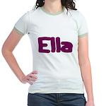 Ella Fat Burgundy Jr. Ringer T-Shirt