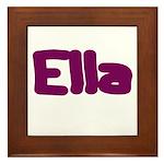 Ella Fat Burgundy Framed Tile