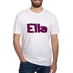 Ella Fat Burgundy Fitted T-Shirt