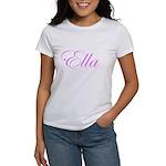 Ella Pink Script Women's T-Shirt