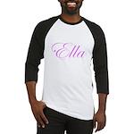 Ella Pink Script Baseball Jersey