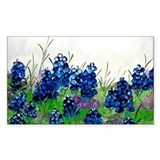 Bluebonnet Painting Rectangle  Aufkleber