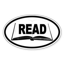 READ Book Oval Decal