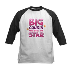 Big Cousin - Star (Pink) Kids Baseball Jersey