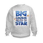 Big Cousin - Star (Blue) Kids Sweatshirt