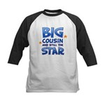 Big Cousin - Star (Blue) Kids Baseball Jersey