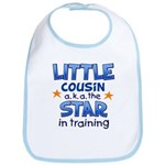 Little Cousin - Star (Blue) Bib