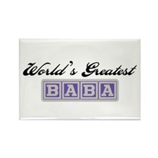 World's Greatest Baba (blue) Rectangle Magnet