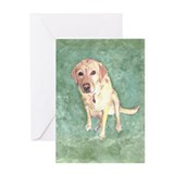 Southern Yellow Lab Greeting Card