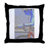ON THE AERO-BARS PAINTING Throw Pillow