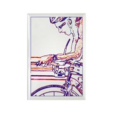 ON THE AERO-BARS LINE Rectangle Magnet (100 pack)