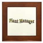 Pansy Plant Manager Framed Tile