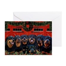 Merry Rotties! Rottweiler Christmas Card (10 Pack)