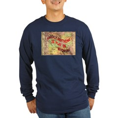 Flat Wyoming Long Sleeve Dark T-Shirt