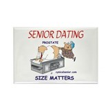 Prostate size matters-dating Rectangle Magnet (10