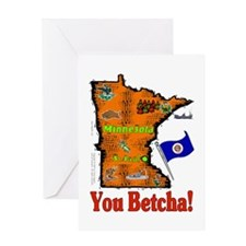 MN-Betcha! Greeting Card