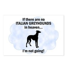 Italian Greyhounds In Heaven Postcards (Package of
