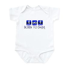 BORN TO SWIM Infant Bodysuit