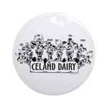 Celand Family Dairy Ornament (Round)