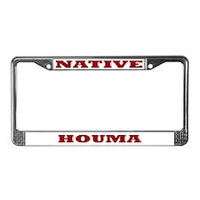 Houma Native License Plate Frame