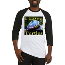 I Love Turtles Baseball Jersey