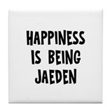 Happiness is being Jaeden Tile Coaster