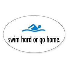 SWIM HARD Oval Decal