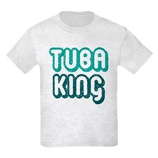 Funny Tuba King Kids Light T-Shirt