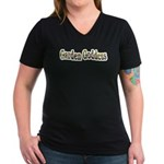 Garden Goddess Women's V-Neck Dark T-Shirt