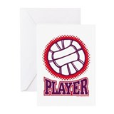 VOLLEYBALL PLAYER Greeting Cards (Pk of 10)