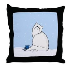 Hanukkah White Persian Throw Pillow