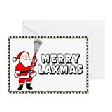 Lacrosse Laxmas Border Greeting Card
