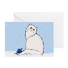 Hanukkah White Persian Greeting Card