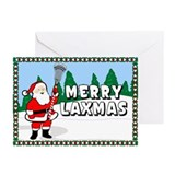 Lacrosse Laxmas Bkg Greeting Cards (Pk of 10)