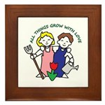 All Thing Grow with Love Framed Tile