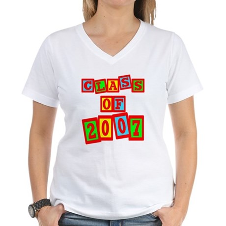 Class of 2007 Women's V-Neck T-Shirt