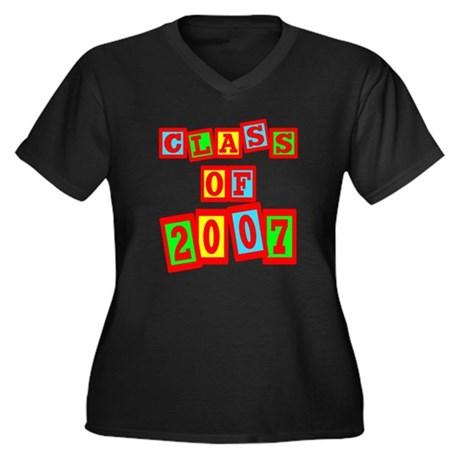 Class of 2007 Women's Plus Size V-Neck Dark T-Shir