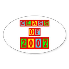 Class of 2007 Oval Sticker