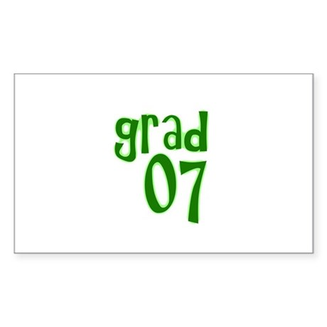 Grad 07 Rectangle Sticker