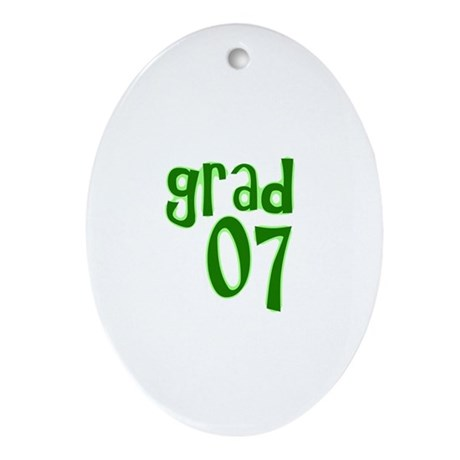 Grad 07 Oval Ornament