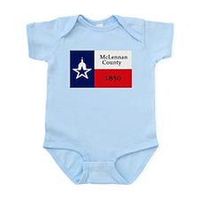 McLennan County Flag Infant Creeper