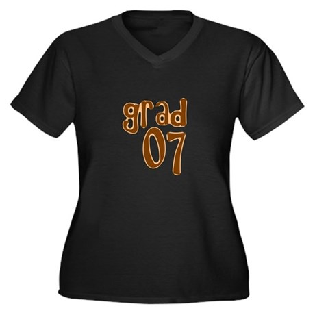 Grad 07 Women's Plus Size V-Neck Dark T-Shirt